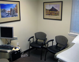 One of our friendly patient rooms