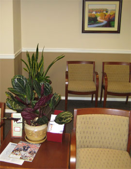 Comfortable waiting area at Cascade Internal Medicine Specialists
